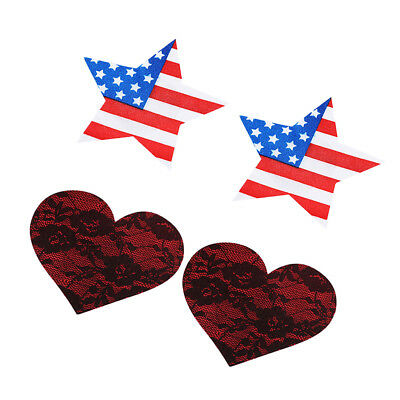 20 Pairs Adhesive Breast Star Heart Nipple Cover Bra Pasties Patches Sticker
