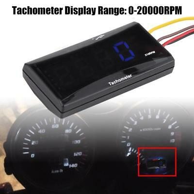 Universal Motorcycle Blue Backlight LCD LED Digital Mini Tachometer Speed Meter