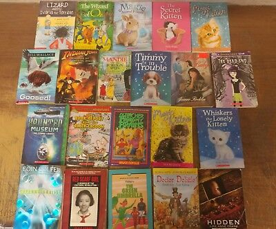 Lot of 20 Chapter Scholastic Disney RL 2 3 4 5 Child Books AR MIX UNSORTED #A20