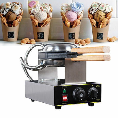 Stainless Electric Egg Cake Maker Machine Bubble Bread Waffle Oven Puff Egg 220V