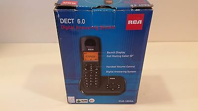 RCA DECT 6.0 Digital Phone Answering System 2162-1BKGA Black NEW FREE SHIPPING