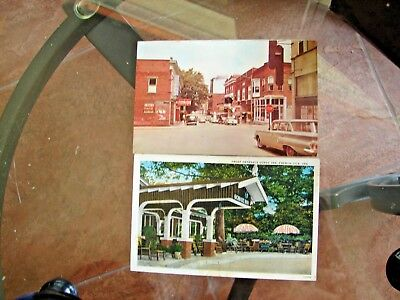 French Lick INdiana Post Cards Down Town,  George Inn