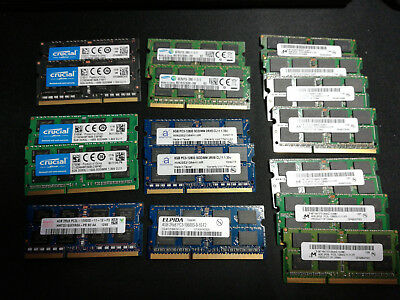 Laptop Memory DDR3 (RAM), Adamanta, Crucial, Samsung + • 8GB & 4GB modules (LOT)