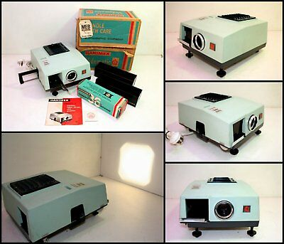 1970's HANIMEX Slidematic Colour 35mm Slide Projector with 2x Magazines