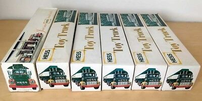 1968 and 1977 Hess Toy Tanker Gasoline Truck Lot of 6 with Boxes