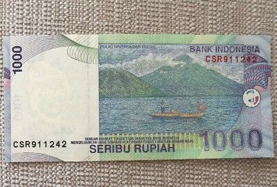 INDONESIA 141a 2000 UNC mint old 1000 RUPIAH BANKNOTE PAPER MONEY CURRENCY NOTE
