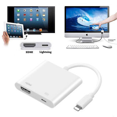 Lightning To HDMI Digital AV TV Cable Adapter For Apple iPad iPhone X 6 7 8 Plus