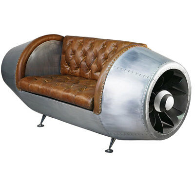 Aviation Jet Engine Seating Bench - Turbinen Sofa, Chesterfield Sitzmöbel
