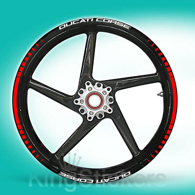 SET adesivi cerchi ruote DUCATI CORSE stickers - TIPO 1 - wheels decals