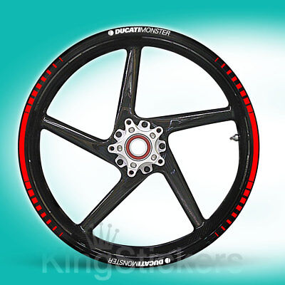 SET adesivi cerchi ruote DUCATI MONSTER stickers - TIPO 1 - wheels decals