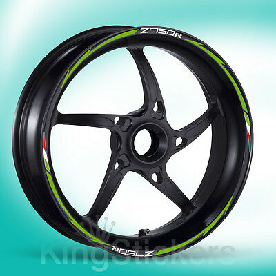 SET adesivi cerchi ruote KAWASAKI Z750R stickers wheels - NEW MODEL EXCLUSIVE -
