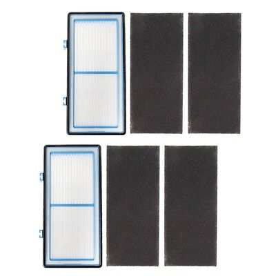2 HEPA Filter and 4 Carbon Booster Filters for Holmes AER1 Type Total Air Filter