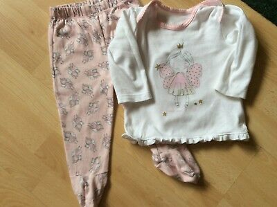 Baby girls pyjamas to fit age 6-9 months