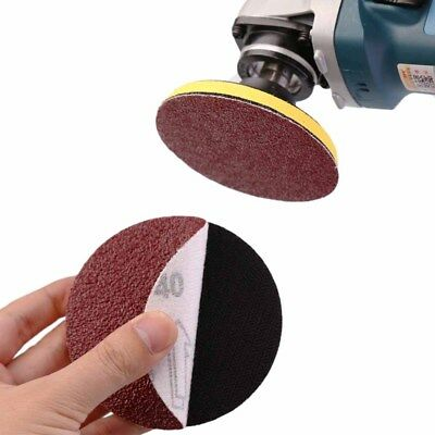 1/10X 5inch 125mm Sander Disc Sanding Polishing Pad Sandpaper 60-320 Grit Mix