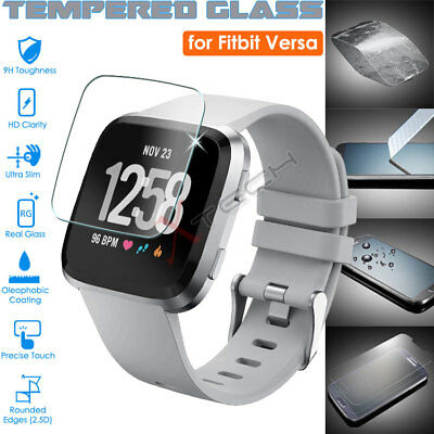 Genuine TEMPERED GLASS Screen Protector For Fitbit VERSA - Fitness Smart Watch