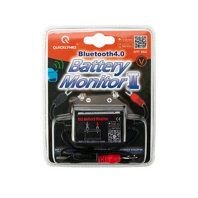 12V Vehicle Battery Monitor via bluetooth 4.0 Voltage Meter Tester w/ auto Alarm