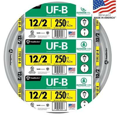 Southwire 13055955 250-Ft 12/2 UF-B Wire (By-The-Roll) NEW Free Shipping