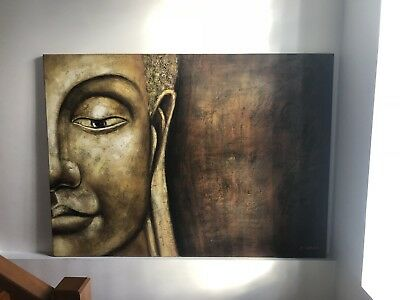 Buddha Oil Painting on Canvas by Jo Sahara