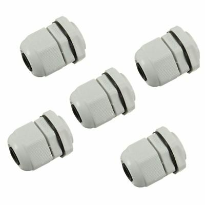 3X(5 x M20 20mm White Waterproof Compression Cable Stuffing Gland Lock K3V2