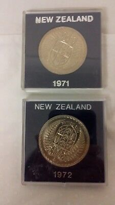 New Zealand 1972 - Large Coin In A Protected Capsule -Estate Coin