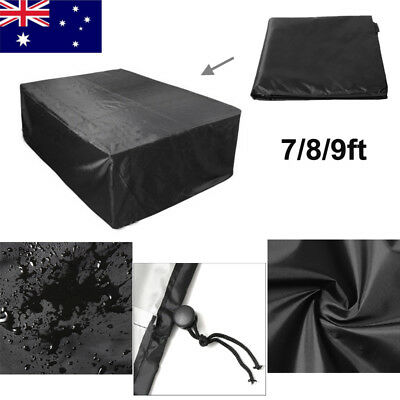 AU 7/8/9FT Pool Snooker Billiard Table Cover Outdoor Polyester Waterproof Fabric