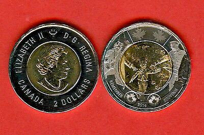 "CANADA - 2$ ""Wait For Me Daddy"" - BI - METALLIC - issue 2014 - UNC"