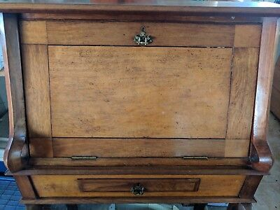 19th Century Australian Antique Writing Desk / Bureau - Blackwood, Huon Pine
