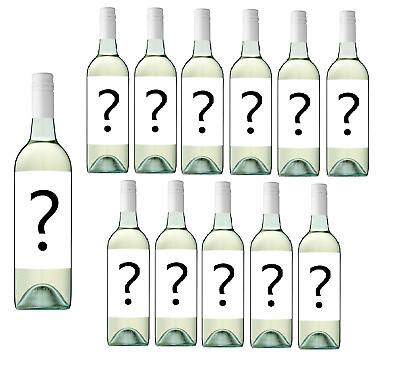Only $59 Delivered Mystery Labelled Mixed Case White Wine (12x750ml) RRP $179