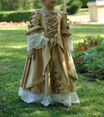 ABITO BAROCCO 1700 BAMBINA 4-6 ANNI/ BAROQUE 18th century DRESS GIRL 4-6 YEARS
