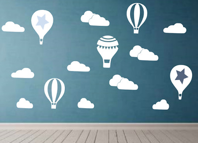 Nursery baby cloud balloon Girl boy kid Bedroom Wall Art Vinyl Decal Sticker V53