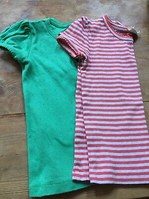 Mini Boden Girls T-shirts green and red striped age 5-6 yrs