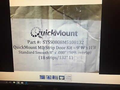 AFT STSS0808M5108132 QuickMount MD 18-Pc Strip Door Kit for 9'W x 11'H, PVC*