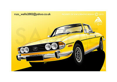 Triumph Stag A3 Poster Illustration