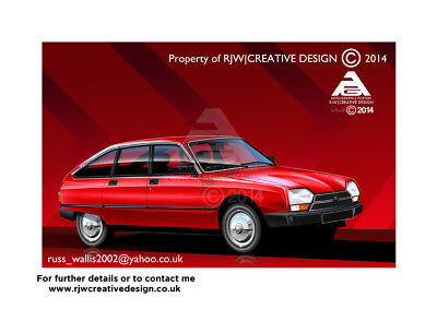 Citroen GSA A3 Poster Illustration