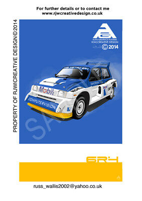 Austin Metro 6R4 Poster Illustration
