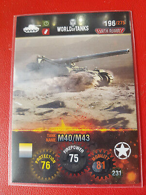 "Panini - World of Tanks - Trading Card - Nr 196  ""M40/M43"""