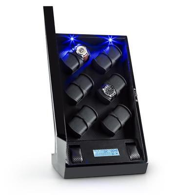 Uhrenbeweger Watchwinder Uhrendreher LED Touch Display 12 Uhren Schaukasten Box