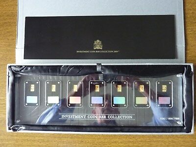 Investment Coin Bar Collection 2009 - 7x1gr. Gold