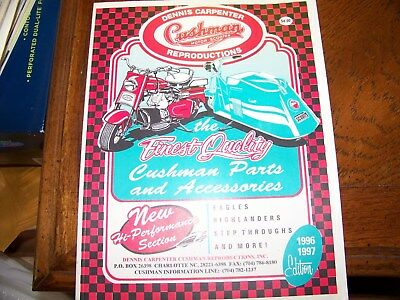 1996-97 Cushman Motor Scooters Catalog Parts & Accessories