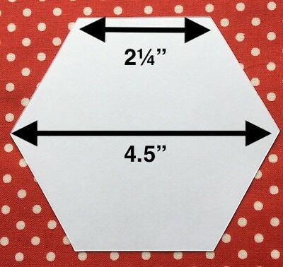 100 x 2¼ INCH HEXAGON PAPER TEMPLATES - PATCHWORK/ENGLISH PAPER PIECING 120gsm