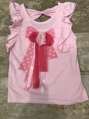 Girls Youth Boutique Brand BMB Coutour Size S Top ADORABLE  light pink embrllush