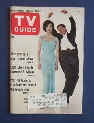 TV Guide DICK VAN DYKE and MARY TYLER MOORE March 27, 1965 Lake Ontario Edition