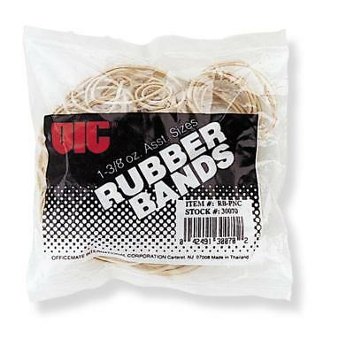 Officemate Rubber Bands 1-3/8 oz. Assorted Sizes Natural 30070