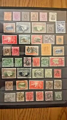 British Empire stamp selection / 42 stamps