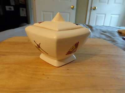 Vtg American Limoges Casino Sugar Bowl & Cover