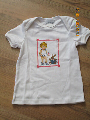 Nwot : Biobottoms, Toddler Girl's Cotton White Short Sleeve Tee [12/18 Months]