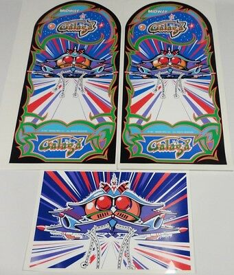 Galaga Arcade Game Side art 3 piece decal set