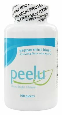 Lot of 4 Peelu - Chewing Gum with Xylitol Peppermint - 400 Pieces Total => Sale!