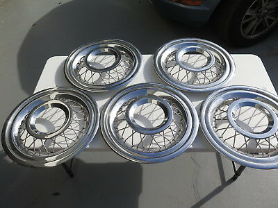 SET of 5  Wire Wheel Cover/Hub Caps for 1950s 1960s