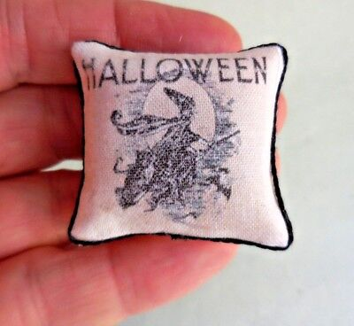 Dollhouse Miniature ~ Halloween Witch  Pillow